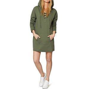 Sanctuary Lower East Hoodie Tunic in Cadet Green